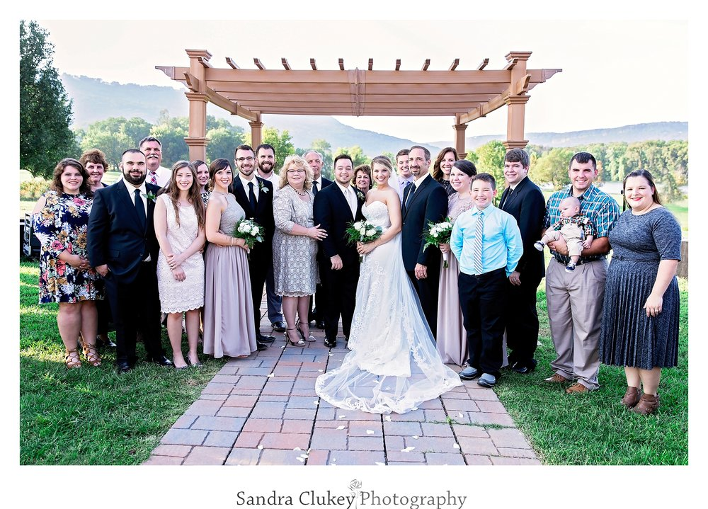 Family wedding portrait at Tennessee RiverPlace