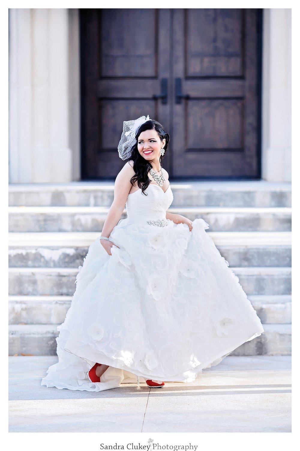Adorable Bride at Lee University Chapel, Cleveland TN