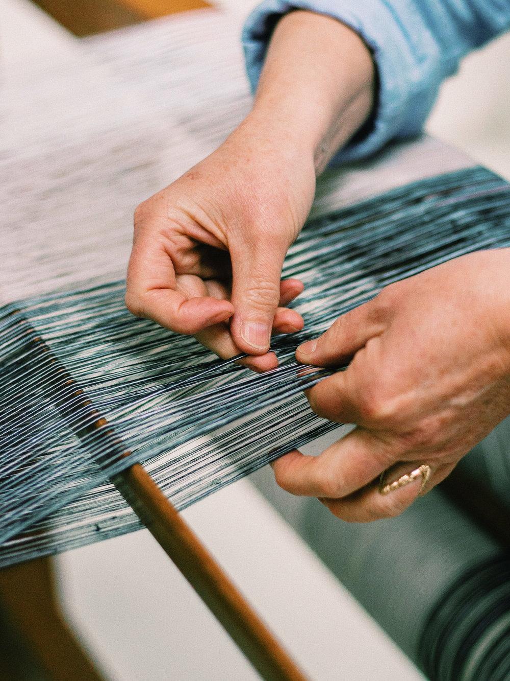 Loom Karin Carlander - Weaving with Natural Linen