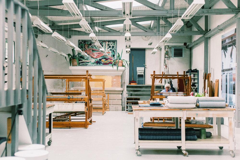 Karin Carlander Weaving Studio in Raadvad north of Copenhagen