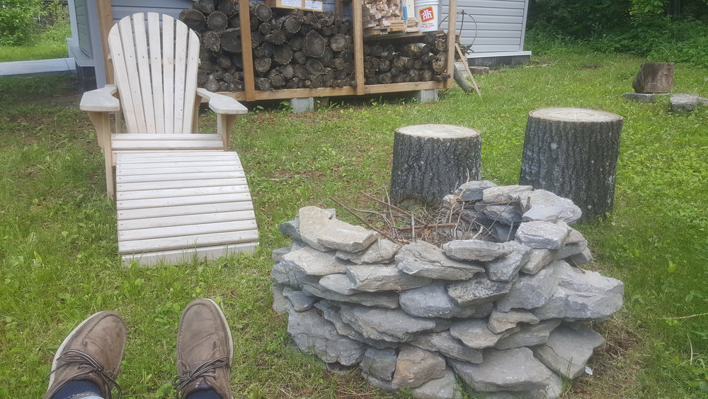 Feet up at the cottage