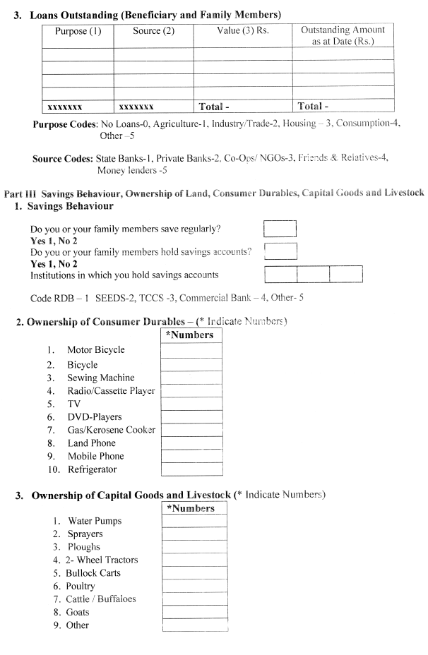 One of the microfinance forms we collected