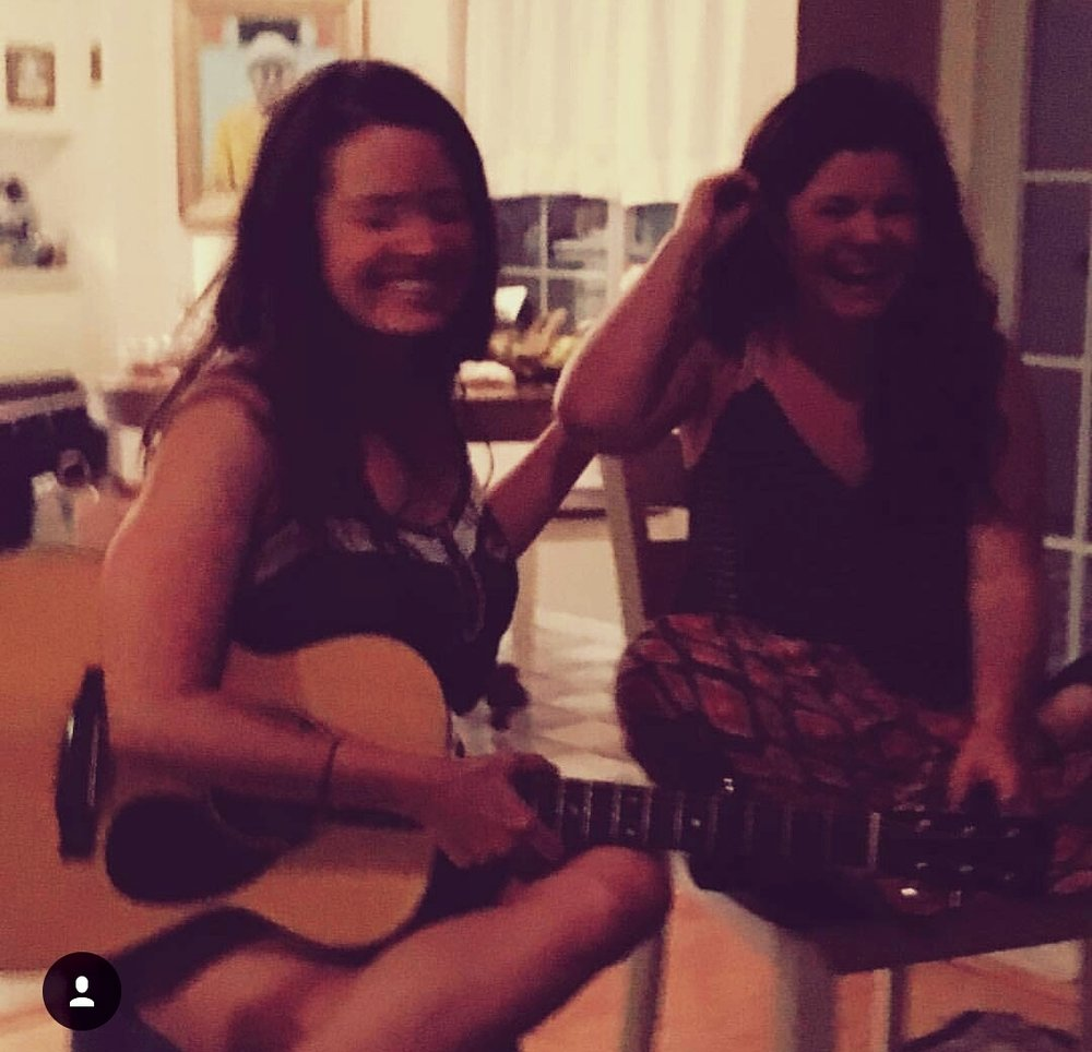 Magic in Rebecca Loebe's living room in Austin, Texas. We had a giant potluck and songwriters' circle. Photo cred: Raina Rose, phenomenal singer/songwriter/guitarist and friend.