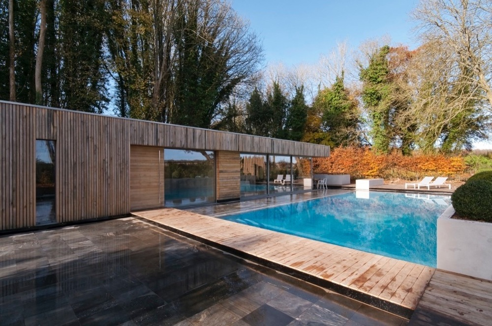 Contemporary Pool House In Winchester Hampshire Adam Knibb Architects Contemporary Design