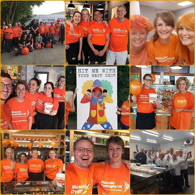 #TB to last Friday, our Go Orange Day! We all had the best day & managed to raise over £700 for @musculardystrophyuk 🎉🎉 Thank you to our fab teams & lovely customers for donating, you're the best 🧡🧡