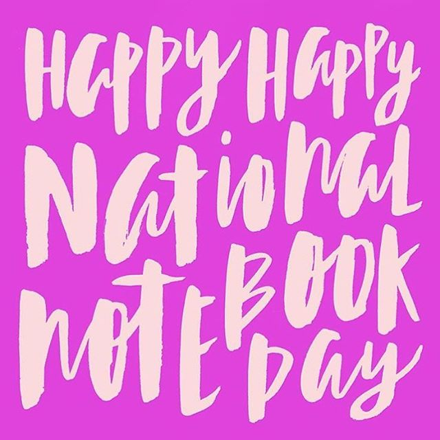 Thank you SO MUCH for celebrating the first ever #NationalNotebookDay with us!! It started off as little dream over at @maydesigns, and grew to become something amazing. Signing off until next year: May 18, 2017! Also, be sure to enter the $1000 National Notebook Day Prize Giveaway through link in profile! 😊😘 -- Lettering by the amazing @_hibrid.