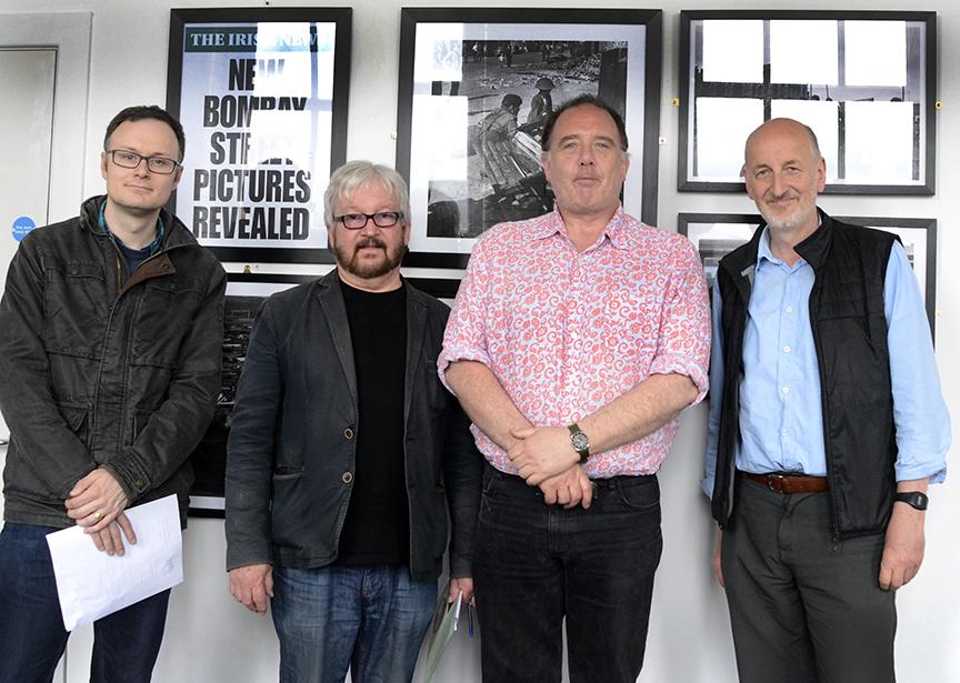 L-R - Matthew McCoy, Raymond O'Regan, Frankie Quinn and Manfred McDowell. (missing - Jackie Redpath)