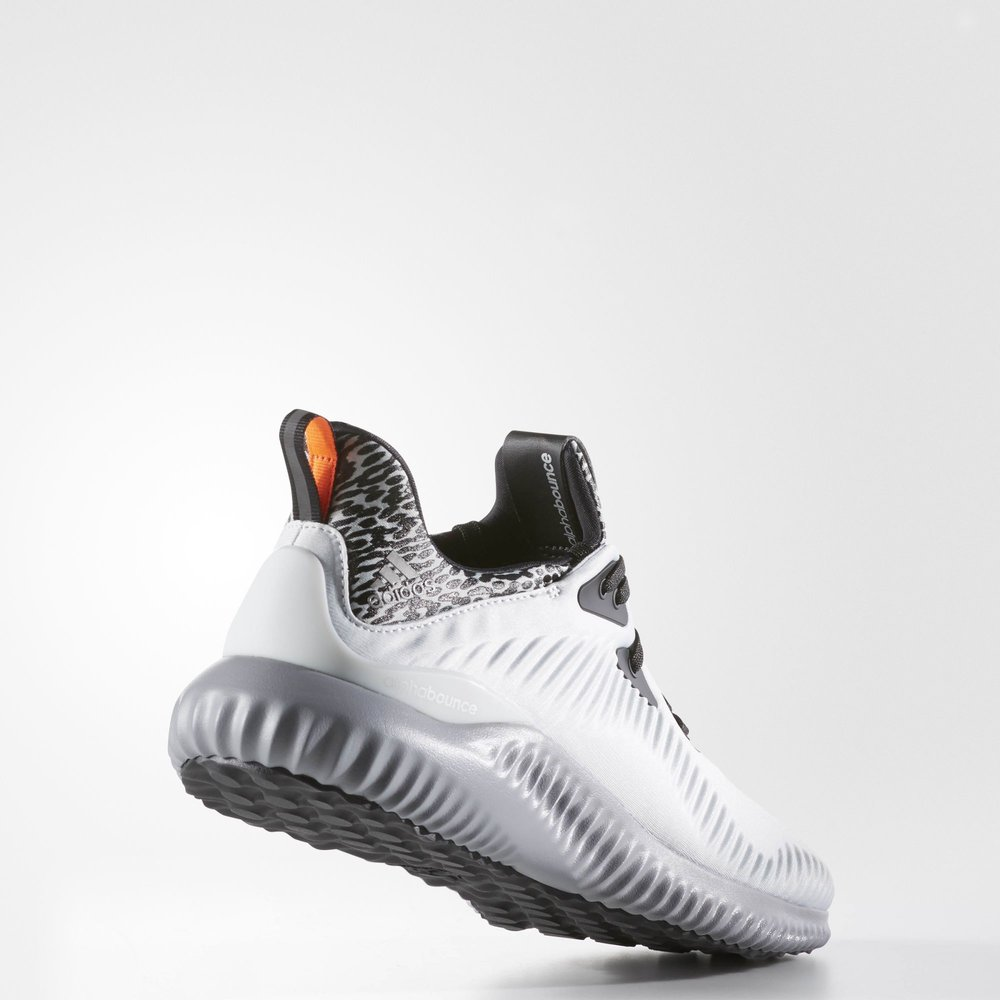 the latest 2e139 a51a6 Adidas Alphabounce - Clear Grey  Matte Silver  Clear Grey - Back Angle  View