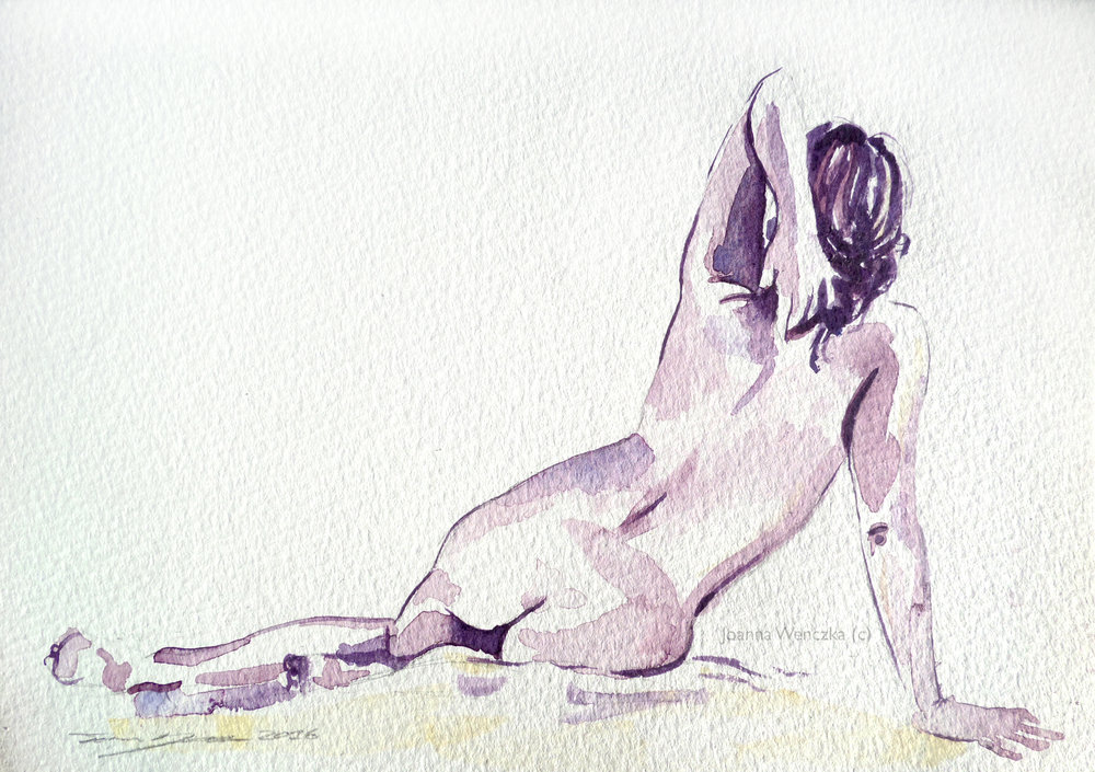 Purple Nude Study