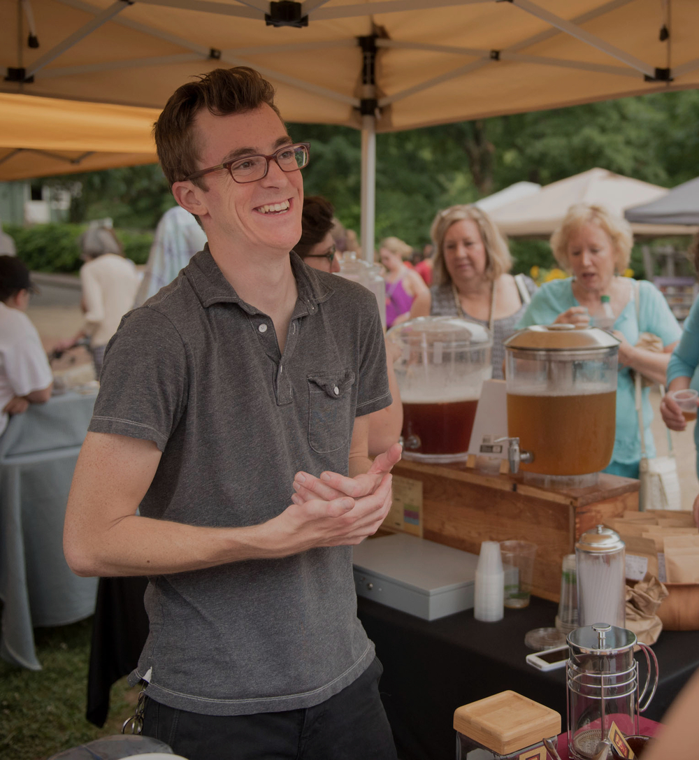 We're out serving hot and cold tea every Saturday at our local farmer's market, located in Old Salem in Winston-Salem, NC.