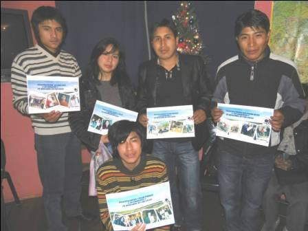 Some of our students finishing their studies: Alvaro, Alisson, Jose Guido, Reynaldo, and Cesar (front).