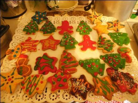 And thanks to Viviana and Maytte who spent all afternoon Friday making Christmas cookies.