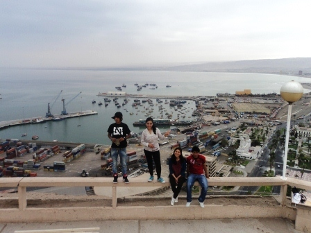 At the viewpoint of Arica.
