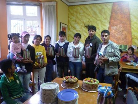 Birthday of our students in the february reunion