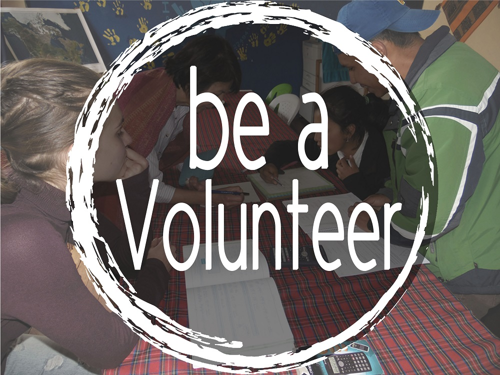 Be a volunteer in the project