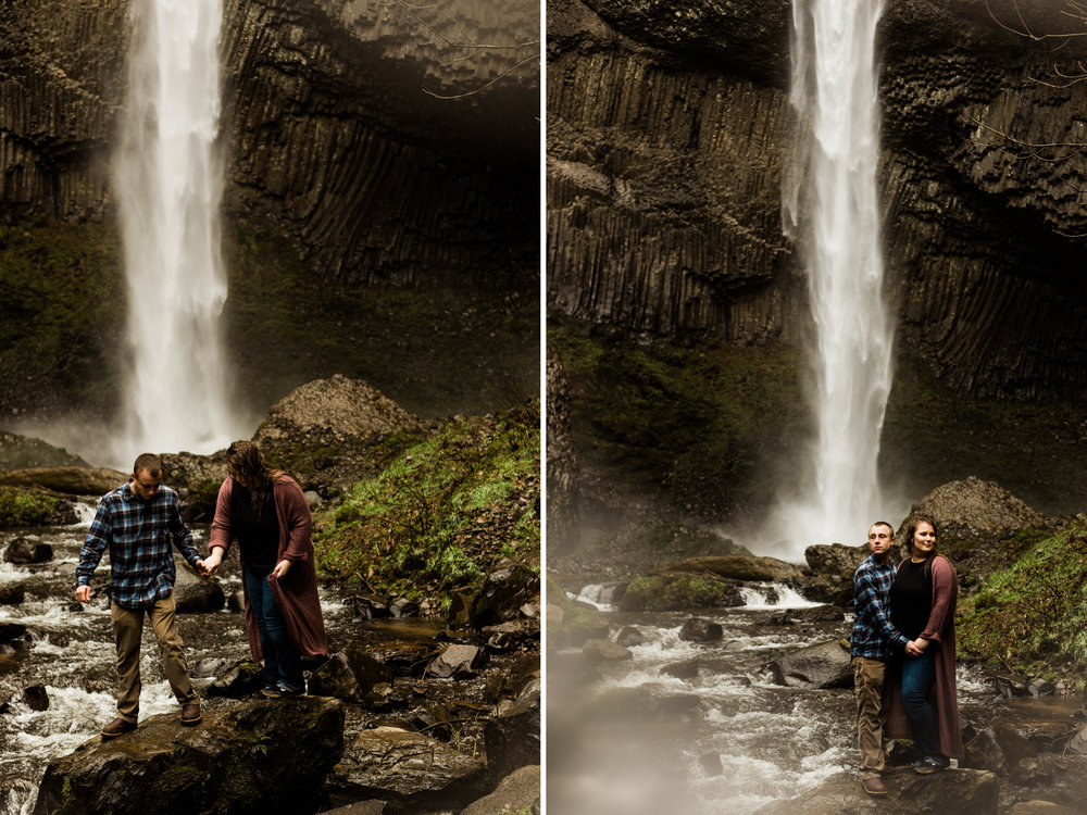 Adorable Latourell Falls Couple Session