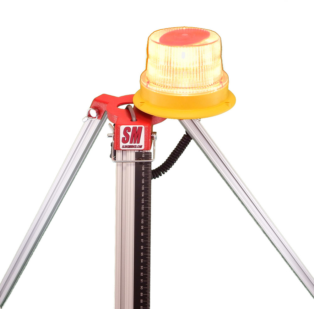 Strobe provides visual alert when user-specified displacement occurs allowing for remote operation.