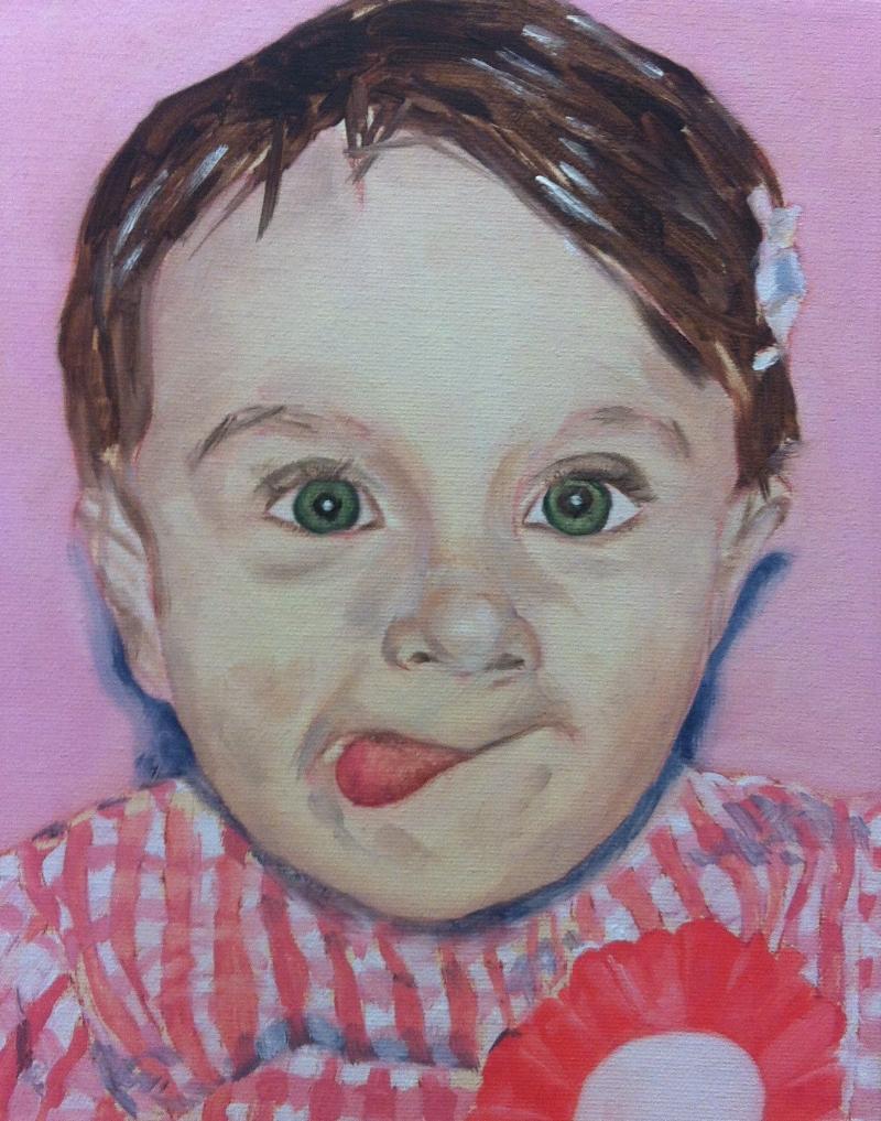 Jasmine. Oil on canvas, 2014.