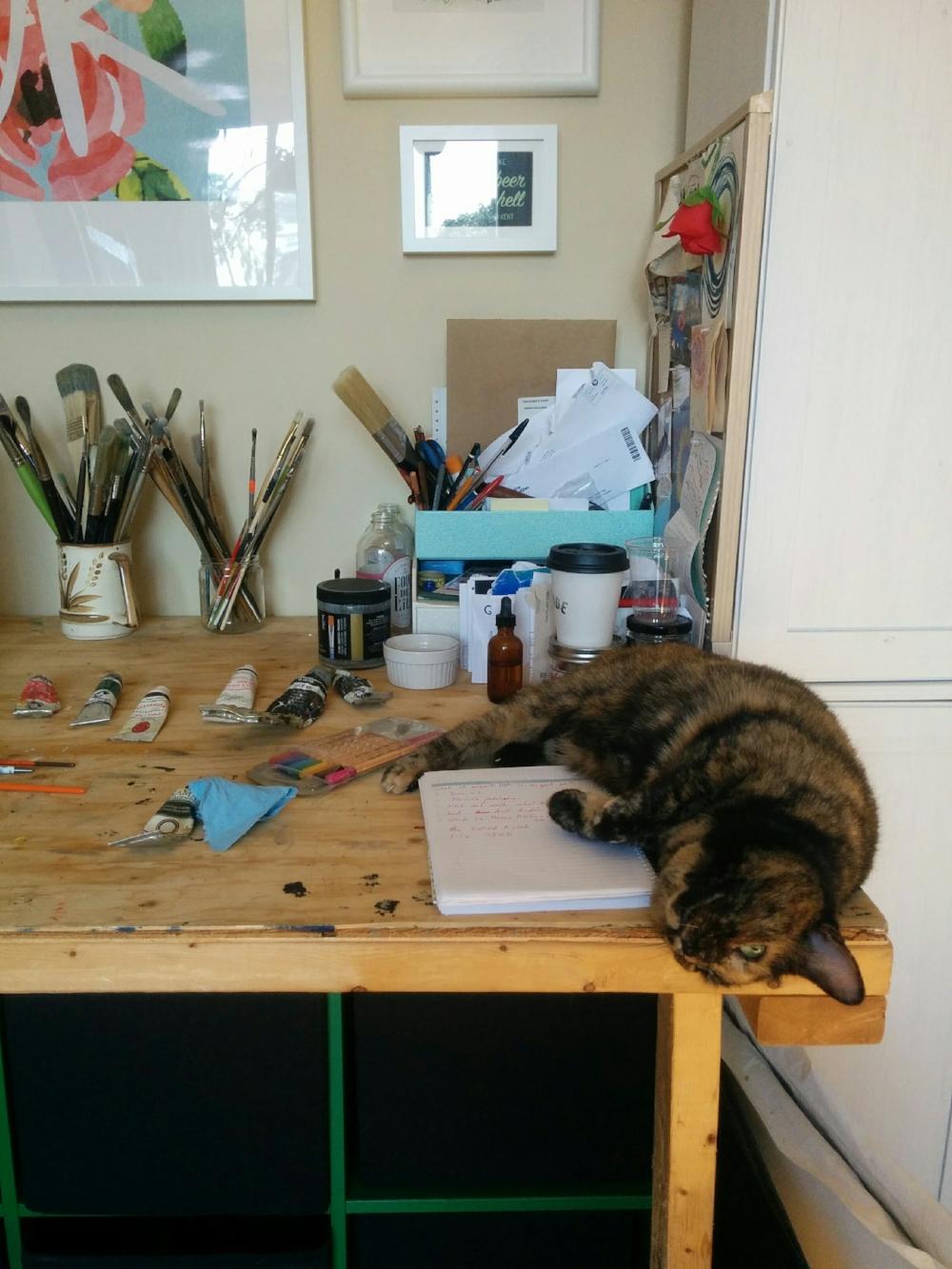 The studio assistant.
