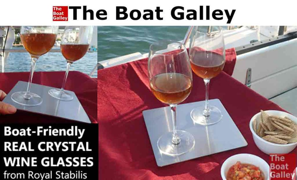 Boat friendly real crystal wine glasses