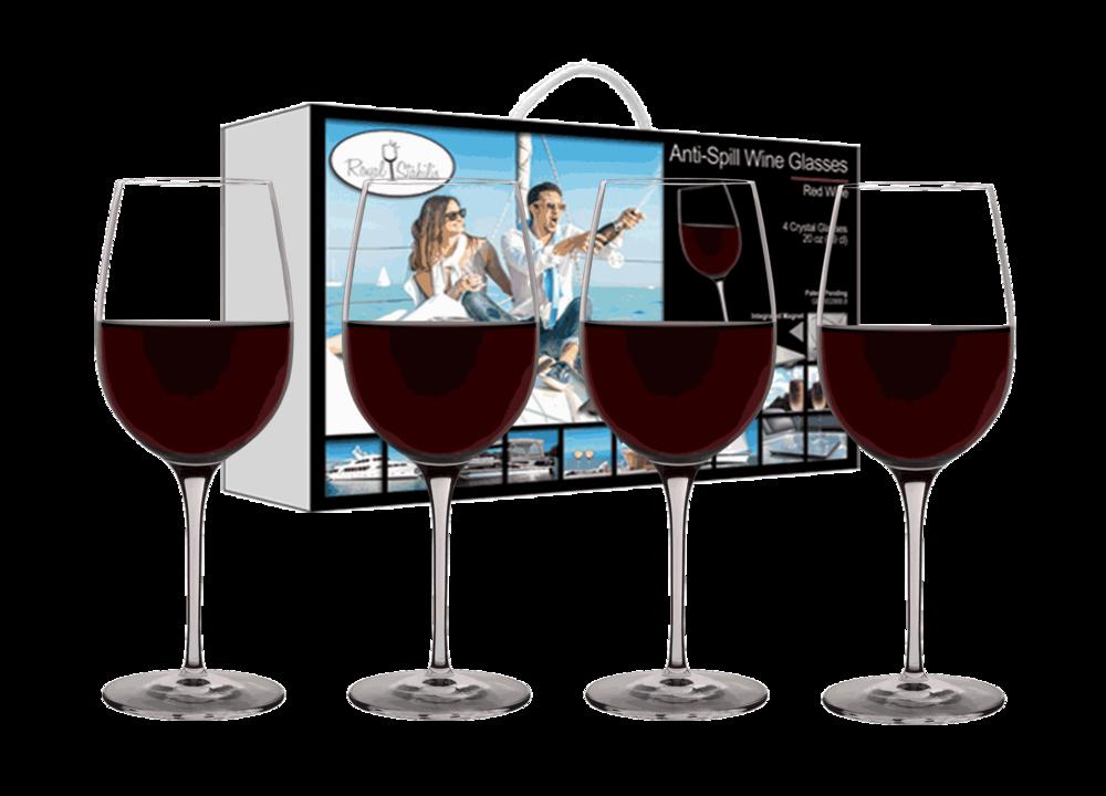 Anti spill wine glasses royal stabilis - Anti spill wine glass ...