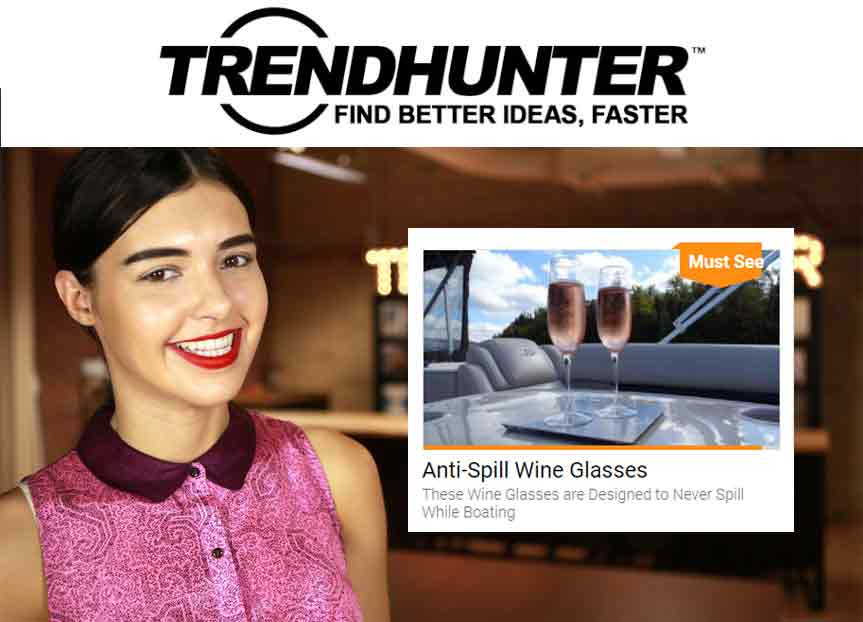 Trendhunter Anti Spill Wine Glasses