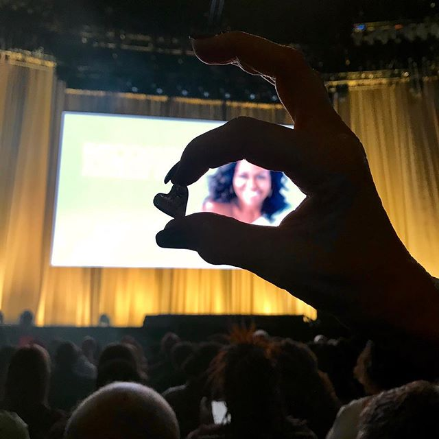We see you @michelleobama.  You are loved.  And you matter.  #Iambecoming #Chicago