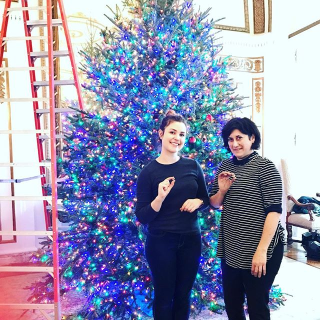 These ladies! This tree! Such talent! Such beauty!  We thank thee. 🎄😘😘 🎄