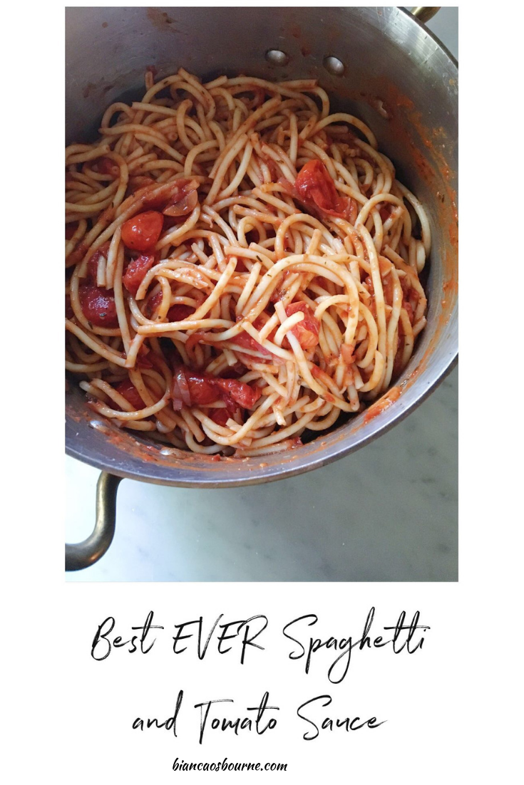 Toronto Food and Lifestyle Blogger - spaghetti with tomato sauce