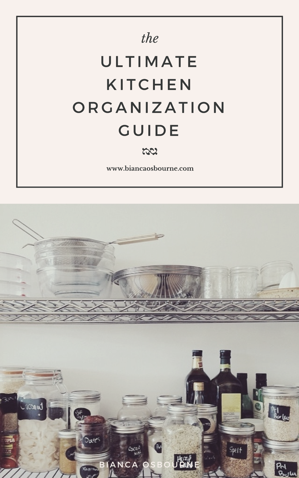 Ultimate Kitchen Organization Guide - Personal Chef, Meal Prep Expert and Toronto Blogger