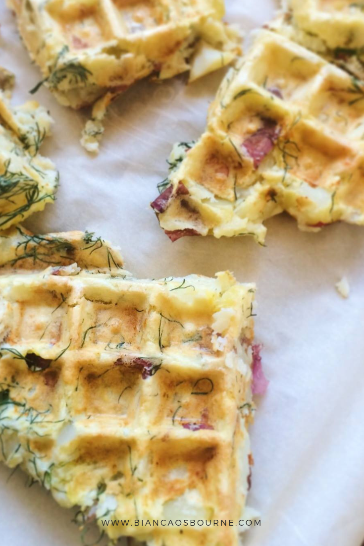 easy make ahead meal prep recipe potato waffles