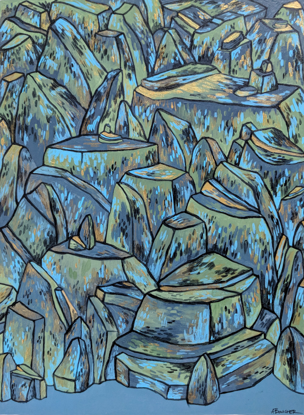 Rock Field II, Acrylic