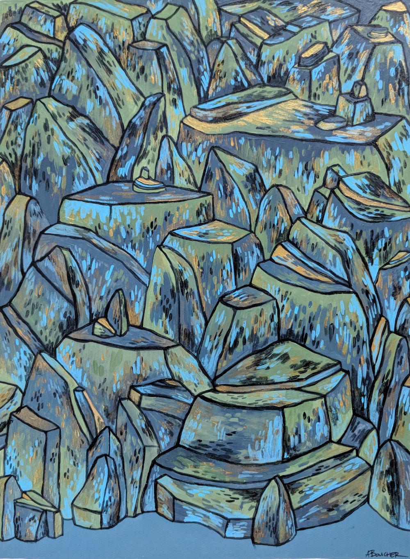 Rock Field II, Acrylic
