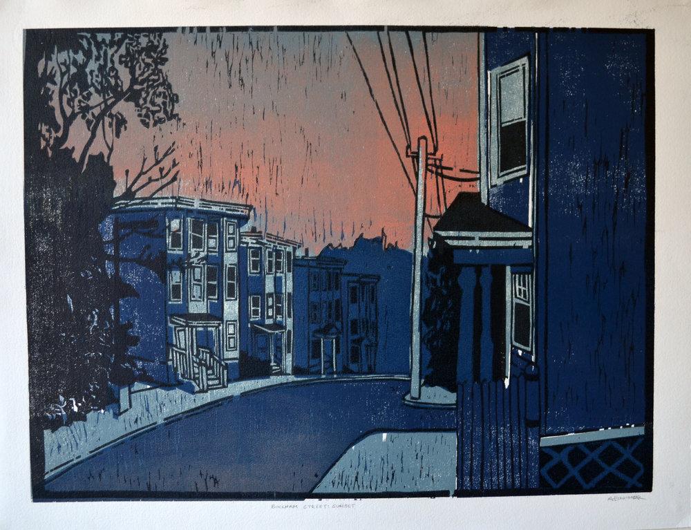 Bucknam Street, Woodcut