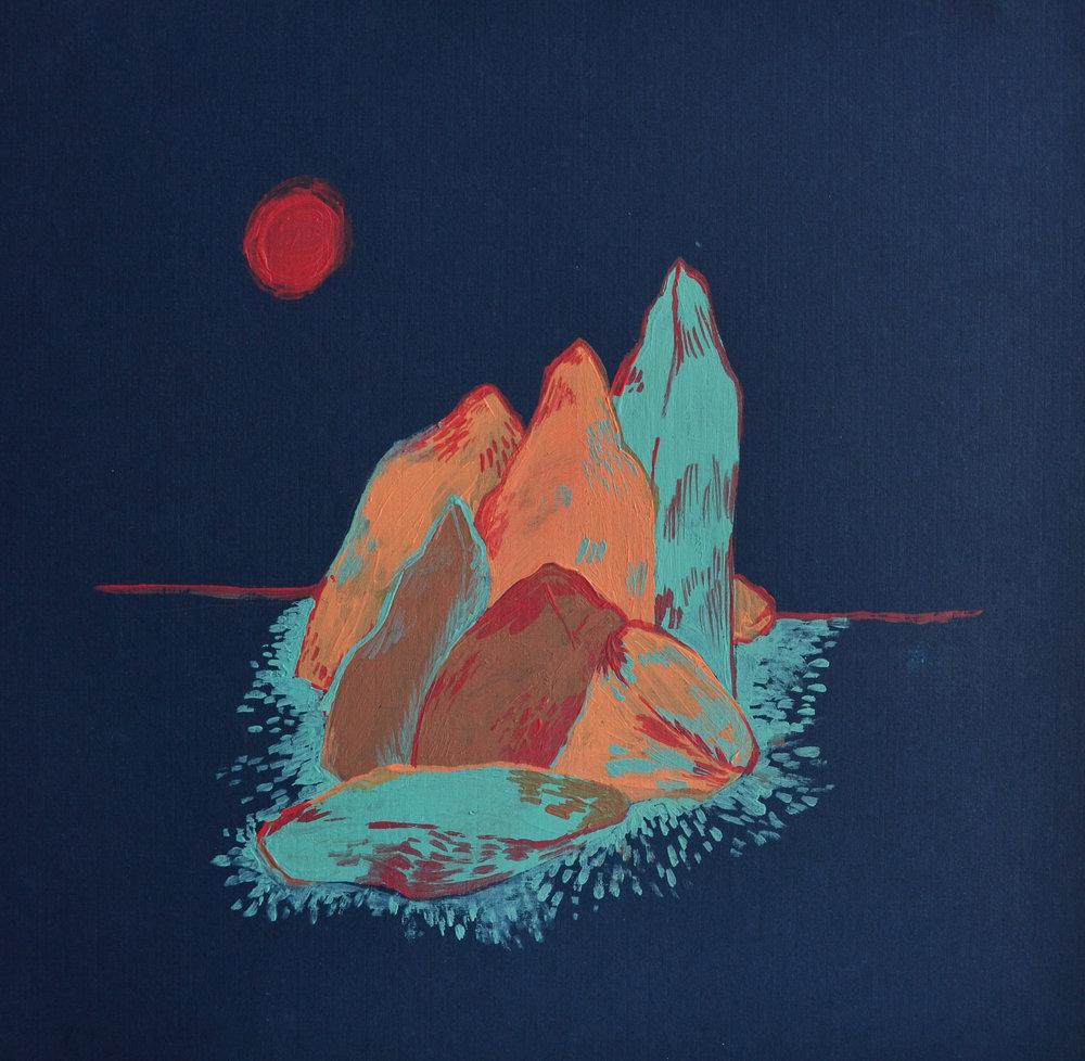 Rock Huddle, Acrylic