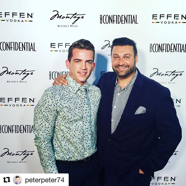 Peter and Bryce last night at the Portraits of Pride event!! 🔥