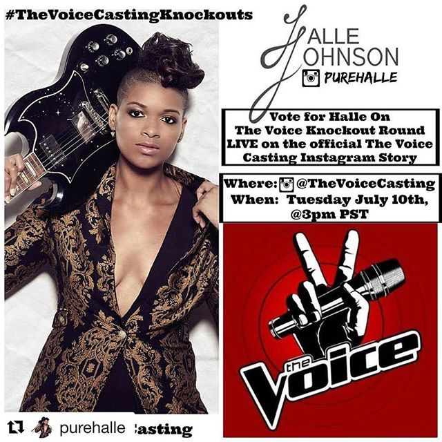 Yes! We're so proud of our very own Halle! 🎶🎶🎶 #Repost @purehalle with @get_repost ・・・ I'm in the knockout rounds for The Voice!Go vote today @thevoicecasting story at 3pm PST . . #purehalle #TheVoiceCastingKnockouts #saltlakecityutah #thevoice #indieartists
