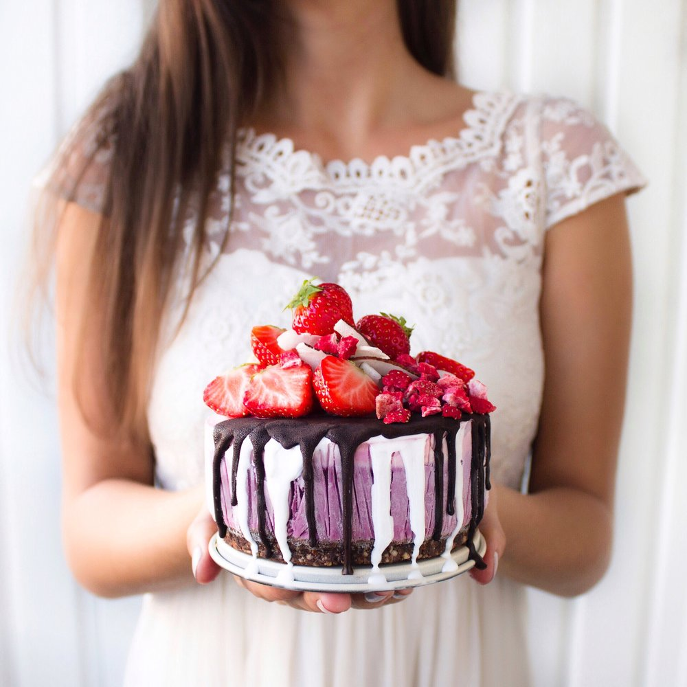 växtbaserad tårta