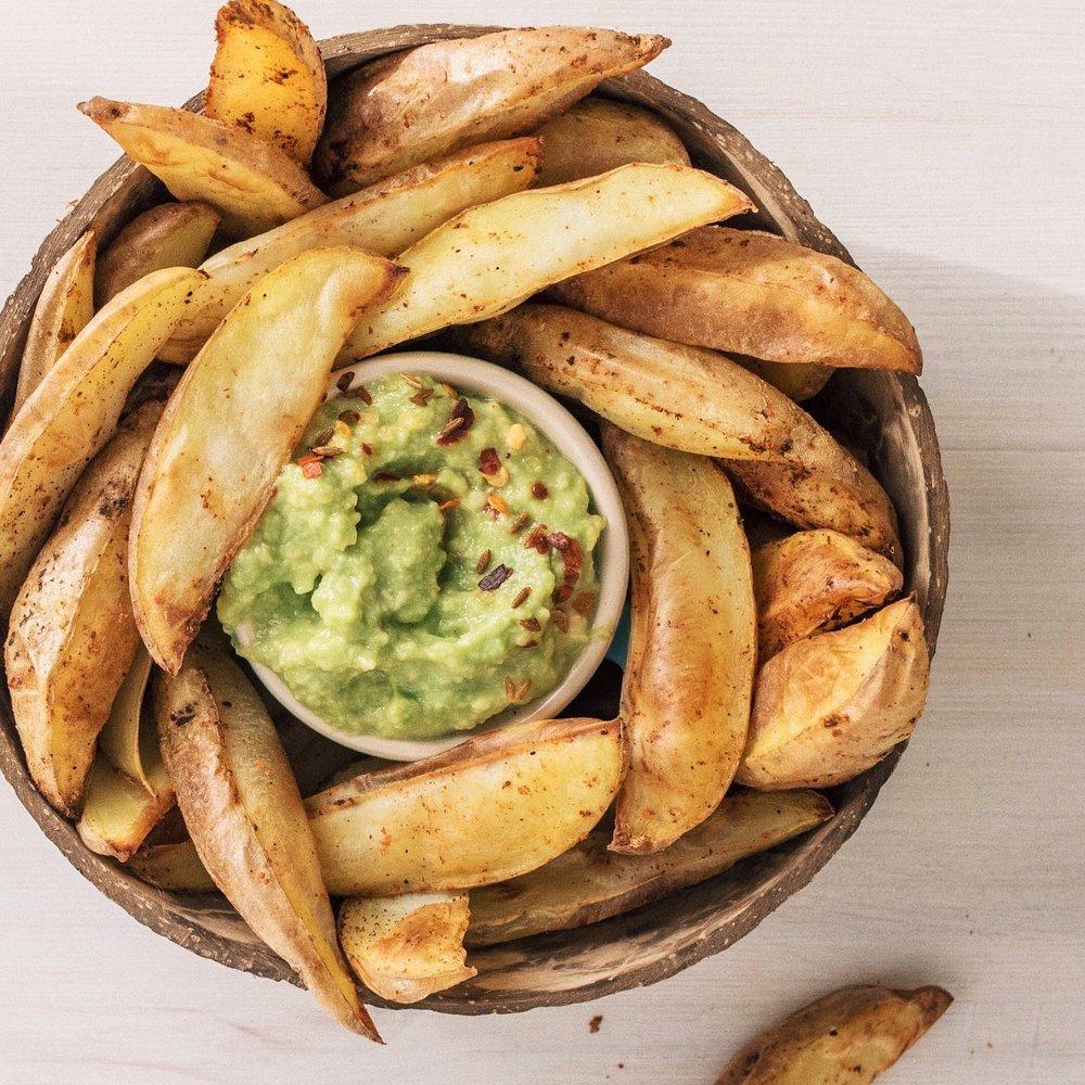 Ugnsrostad potatis utan olja
