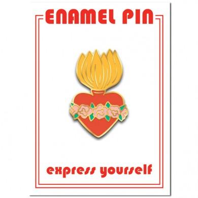Burning Heart Enamel Pin