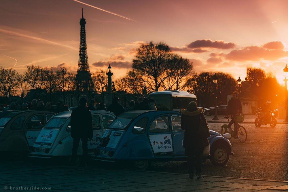 Late-evening Citroën summit at Place de la Concorde. [Sony a7Sii + 70-200 f/4 @ 78 mm, f/4, 1/640 s, ISO 200]