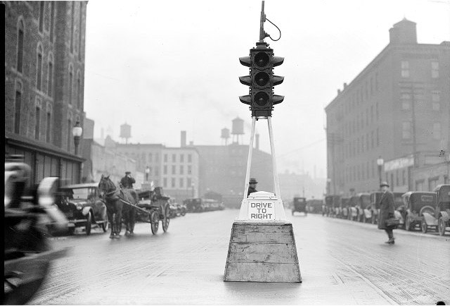 First Street Light, 105th and Euclid, 1914