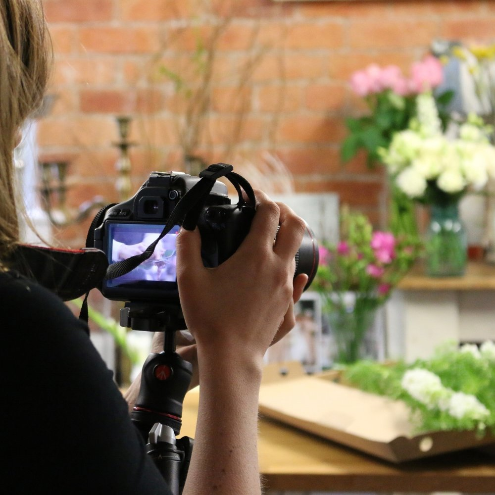 behind the scenes at Tineke flower studio