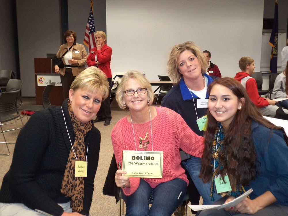 Poverty Simulation-Boling Family-Colleen,Chancra,student, Kathy Addison.JPG