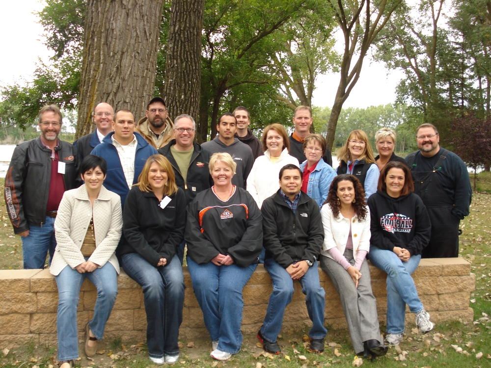 From Left to Right:  Front Row: Jenny Gonzalez, Stacia Lenz, Deanna Beckman, Saul Gomez, Grace Benson, Angie Klemmensen  Middle Row: Marc Lamon, Mike Dietrich, Raul Escobedo, Mary Wiltgen, Cherrie, Diana Kincaid, Nancy Cochrane, Mark Jenkins  Back Row: Jim Headley, Jack Ehrich, Brian Rush, Justin Woltman, Matt Lawler