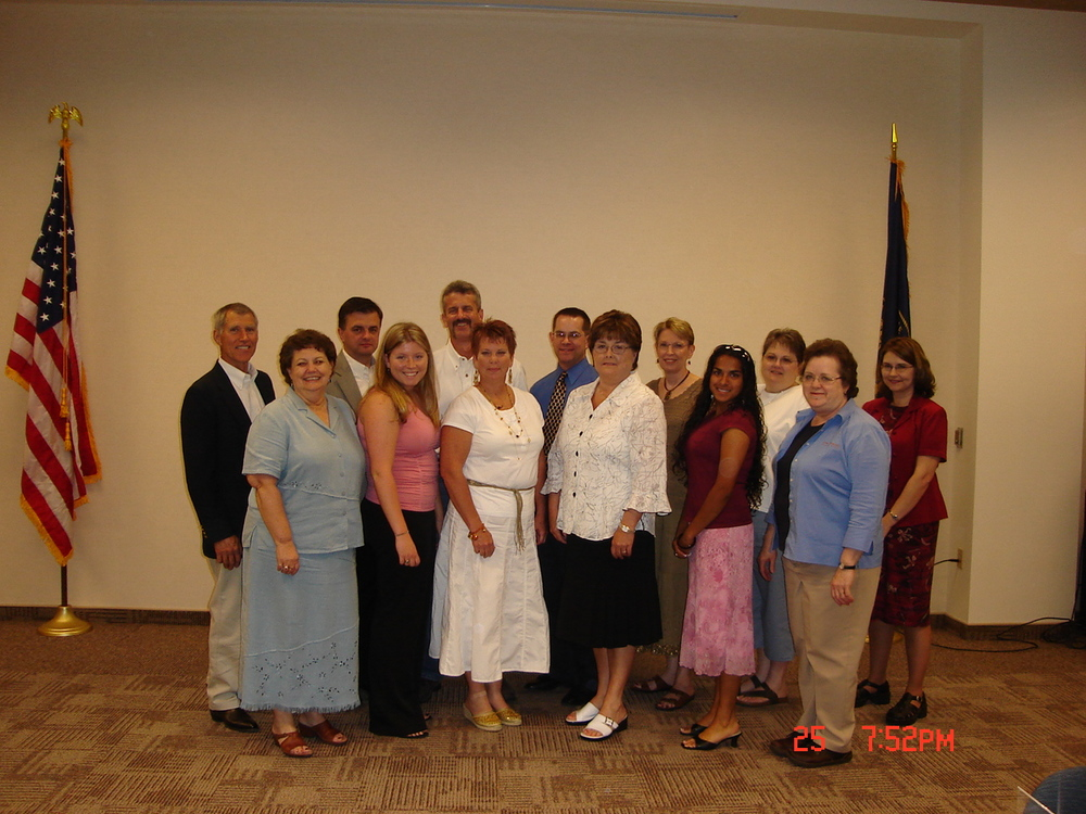 From Left to Right  Front Row: Gloria Oorlog, Alicia Elliott, Amy Freeman, Dawn Smith, Humera Ahmad, Lois Schock  Back Row: Bill Addison, Dan McNamara, Dave Gill, Roger Myers, Kathy Jacobs, Peggy Vaughn, Jean Beach  Not Shown: Ryan Gehling, Donna Hirsch