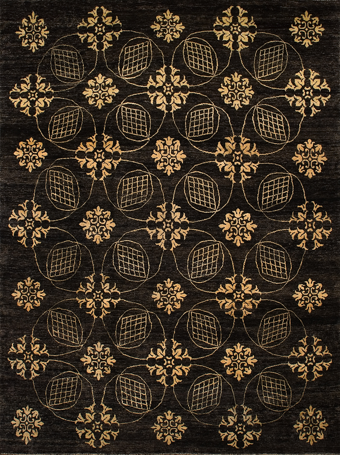 Transitional Area Rug 7808a Decorative Hand Knotted Area
