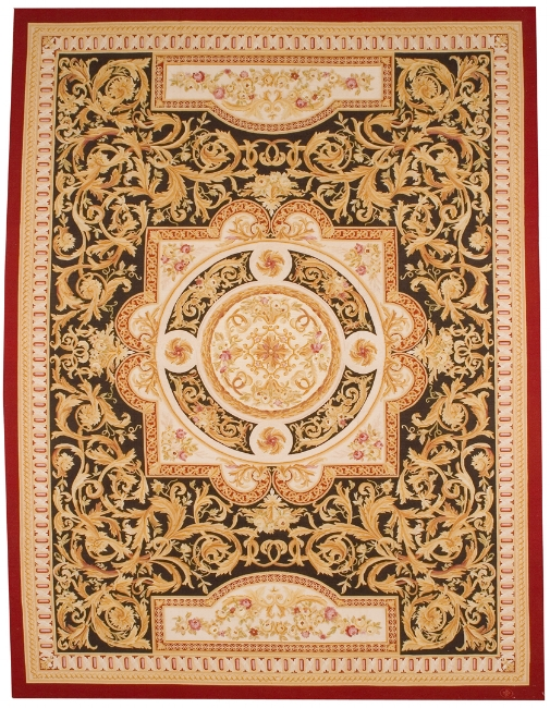 Aubusson Area Rug 5013A