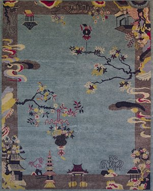 art deco rug. Chinese Art Deco Inspired Area Rug CD200