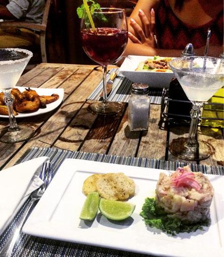 Ceviche at Paladar Vistamar - C uban seafood r estaurant.